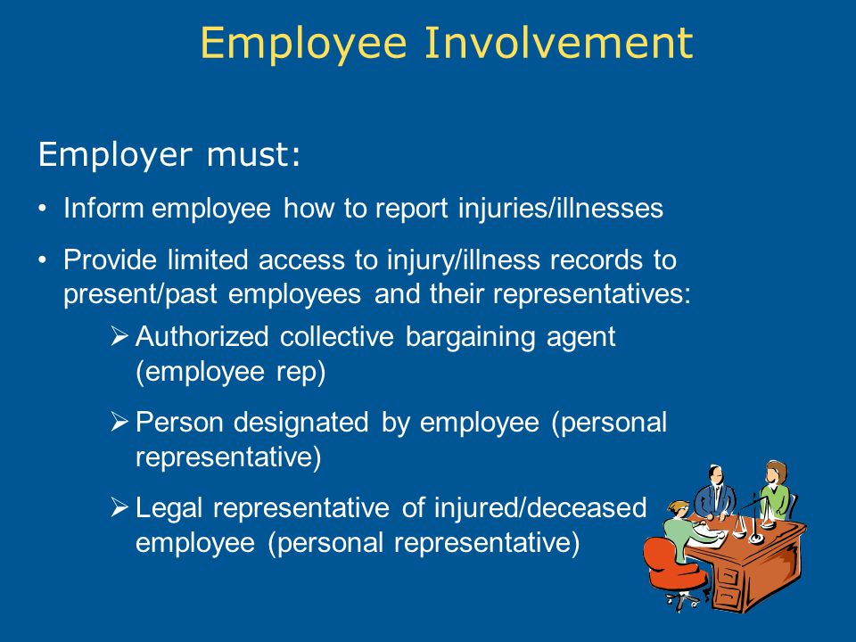 Employee Involvement Employer must: