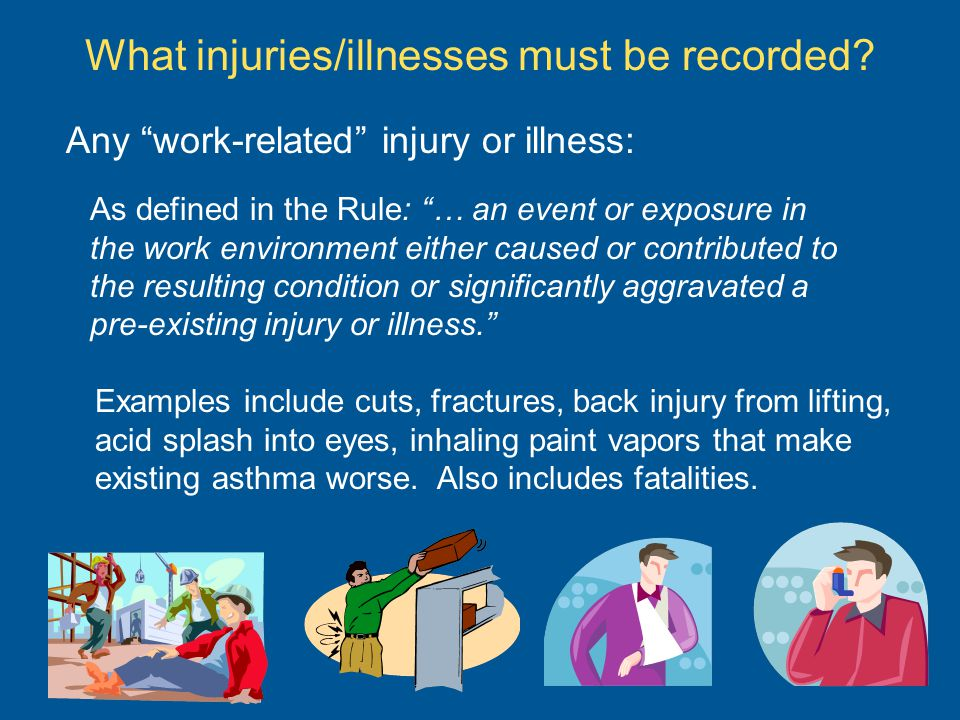 What injuries/illnesses must be recorded