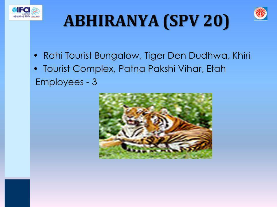 ABHIRANYA (SPV 20) Rahi Tourist Bungalow, Tiger Den Dudhwa, Khiri