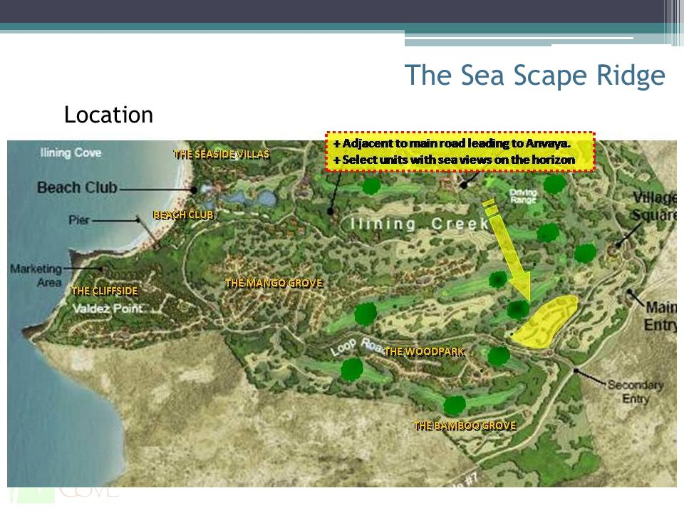 The Sea Scape Ridge Location