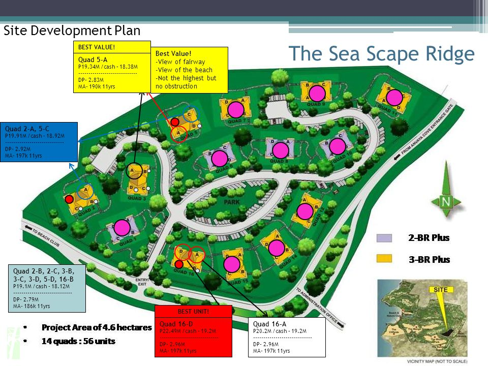 The Sea Scape Ridge Site Development Plan Best Value! View of fairway