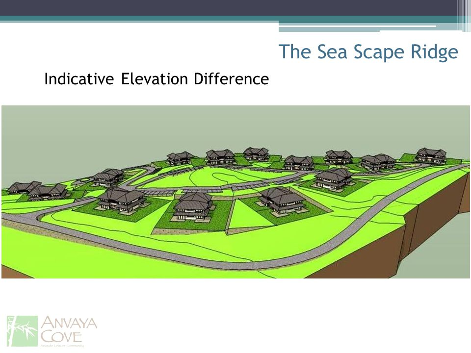 The Sea Scape Ridge Indicative Elevation Difference