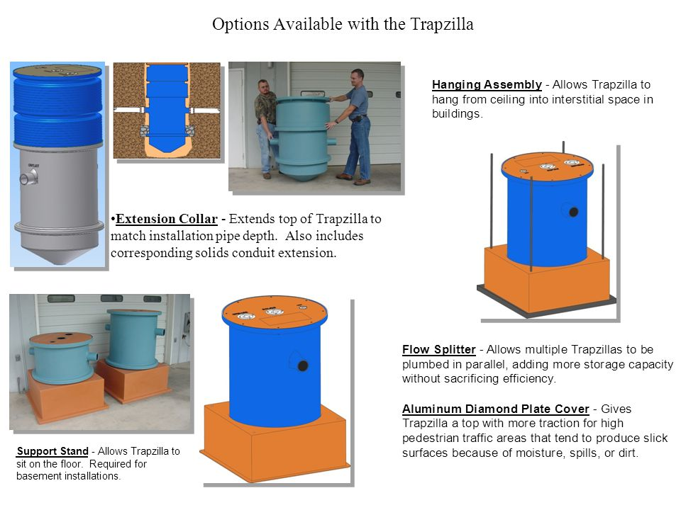 Options Available with the Trapzilla