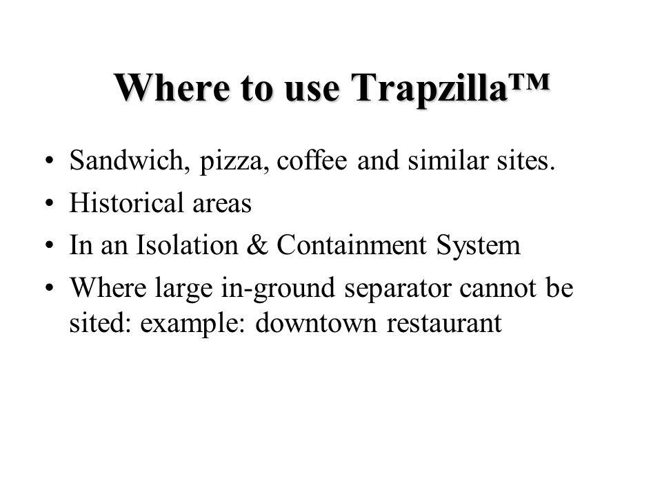 Where to use Trapzilla™