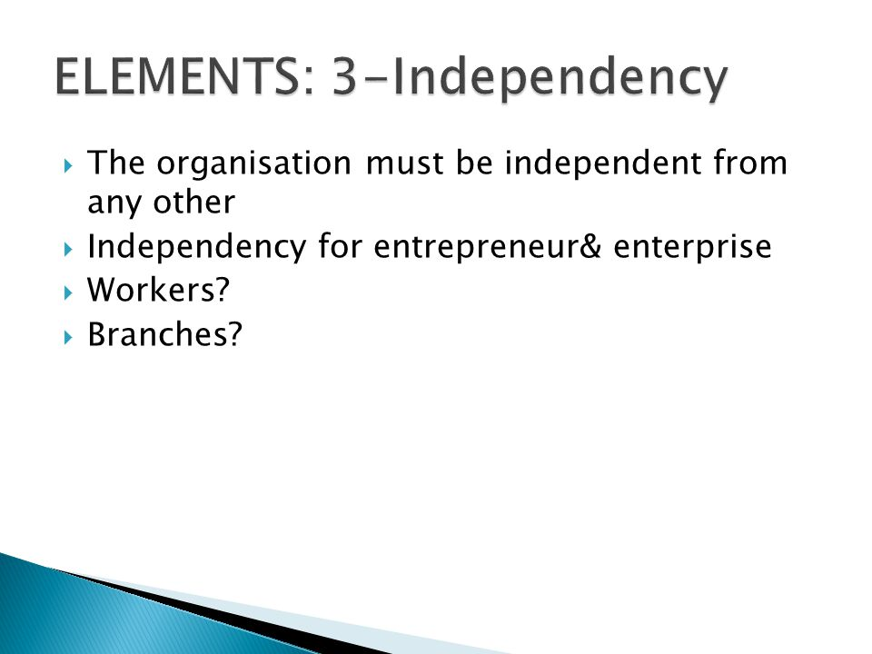 ELEMENTS: 3-Independency