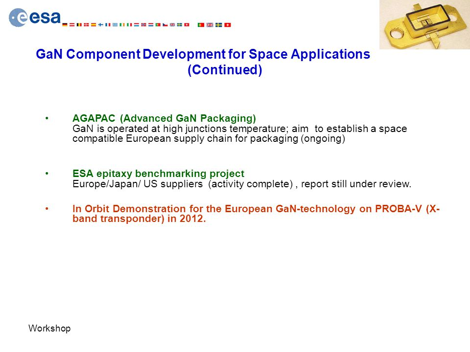 GaN Component Development for Space Applications (Continued)