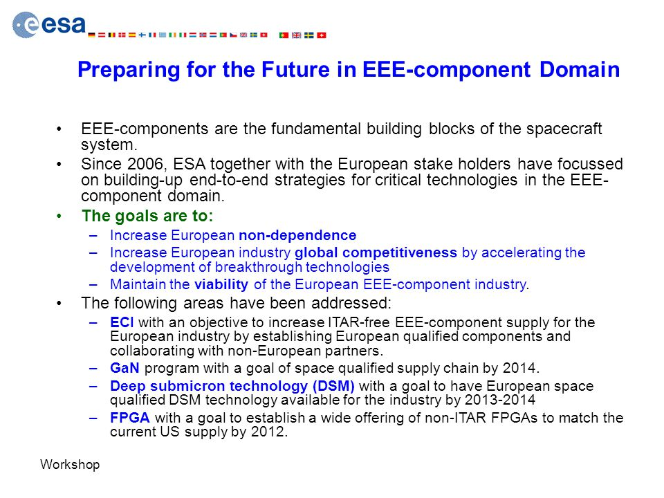 Preparing for the Future in EEE-component Domain