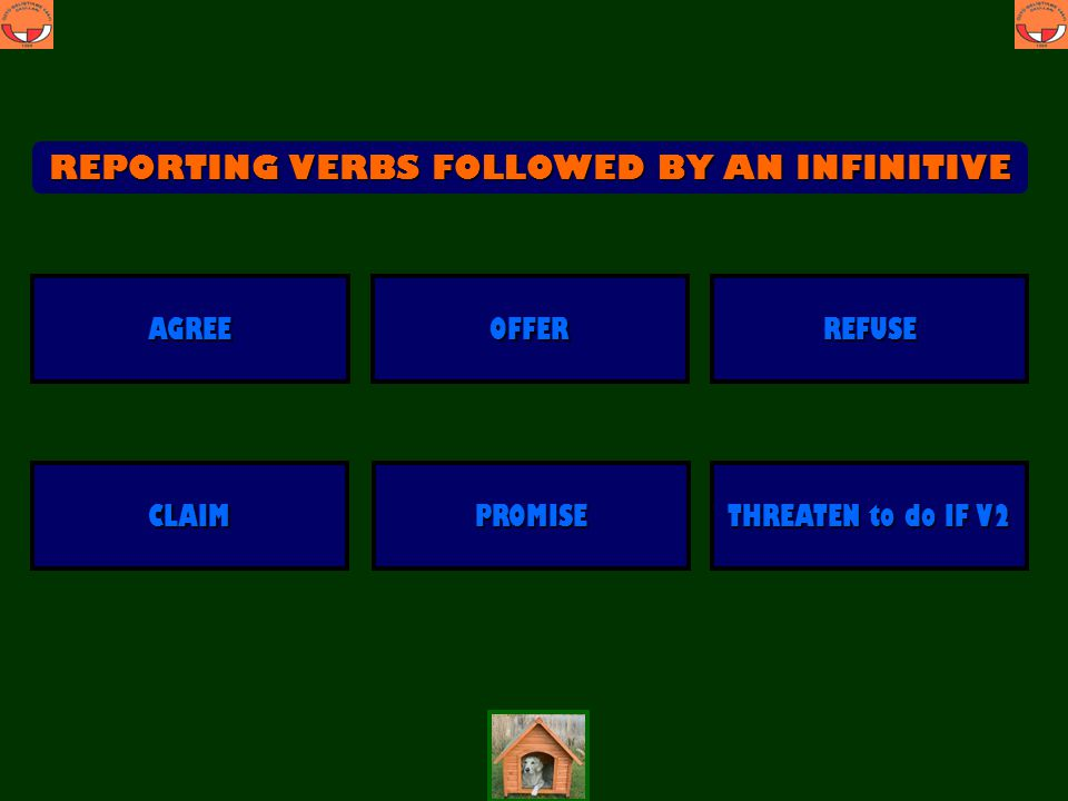 REPORTING VERBS FOLLOWED BY AN INFINITIVE