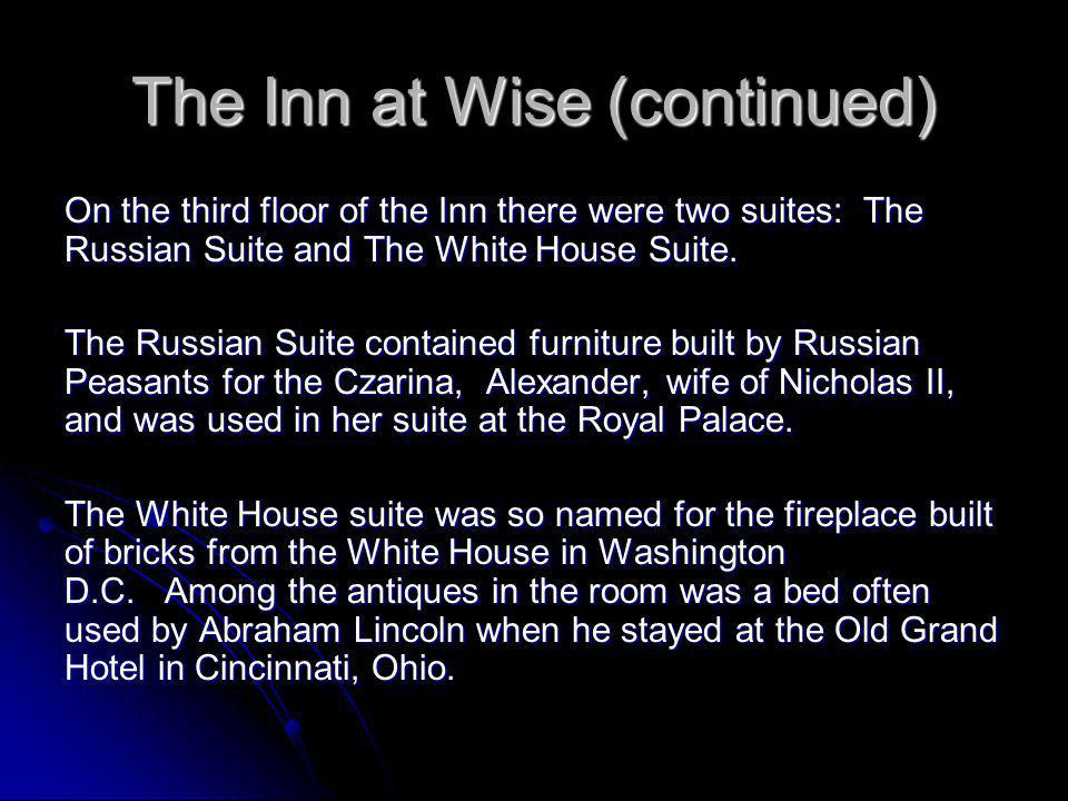 The Inn at Wise (continued)