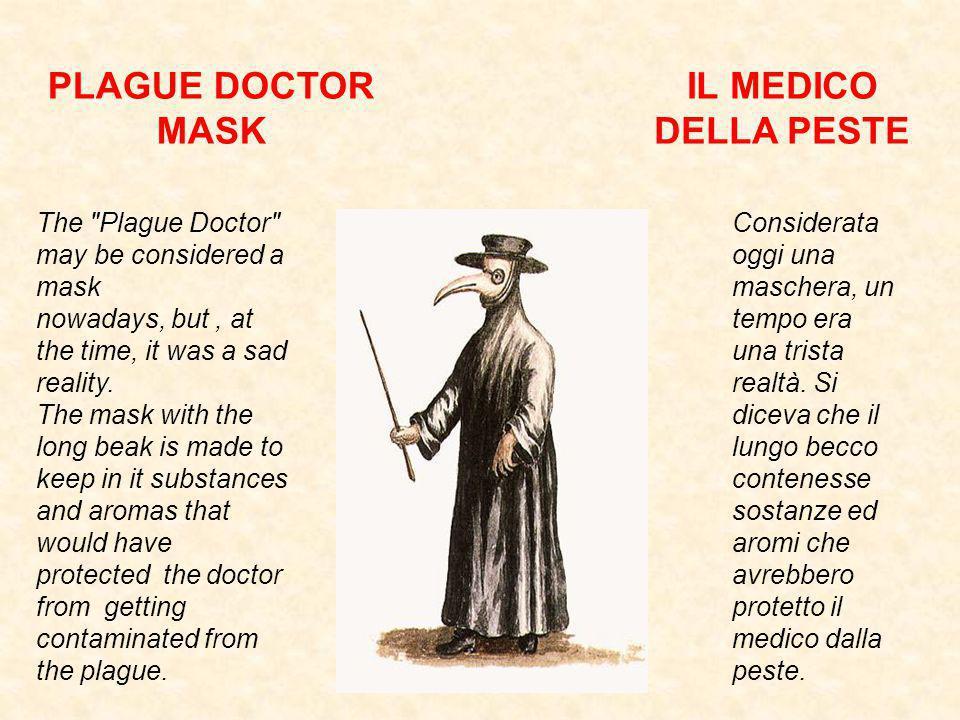 PLAGUE DOCTOR MASK IL MEDICO DELLA PESTE