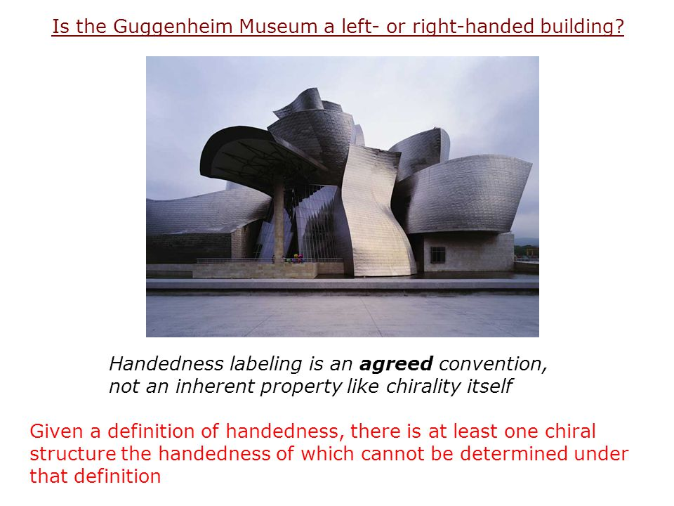 Is the Guggenheim Museum a left- or right-handed building
