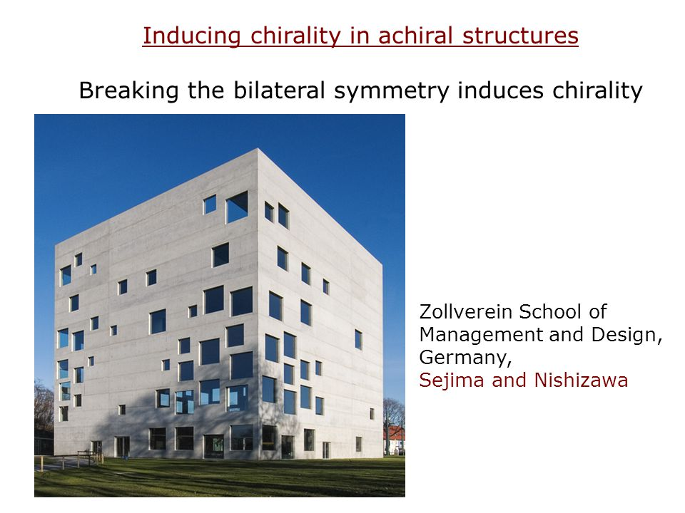 Inducing chirality in achiral structures