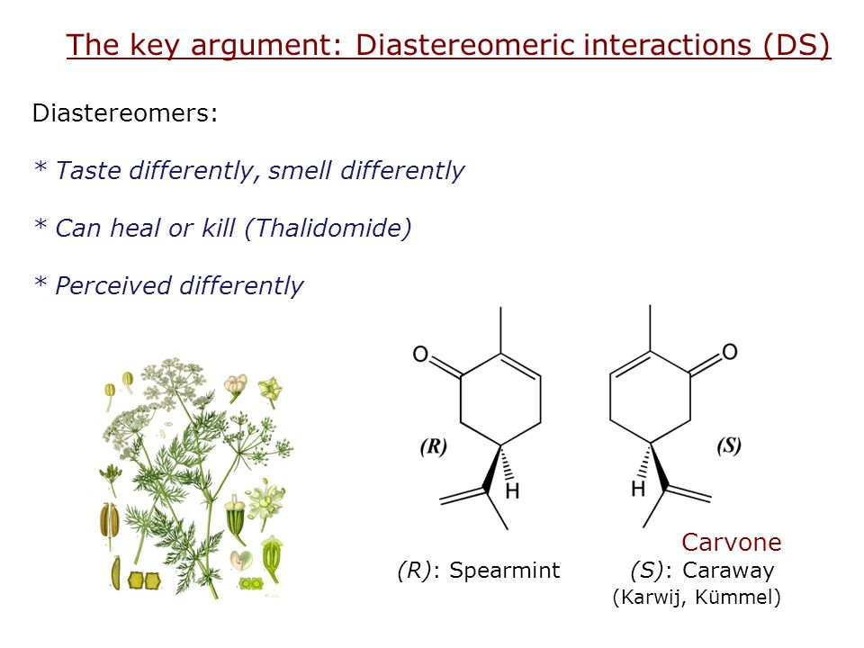 The key argument: Diastereomeric interactions (DS)