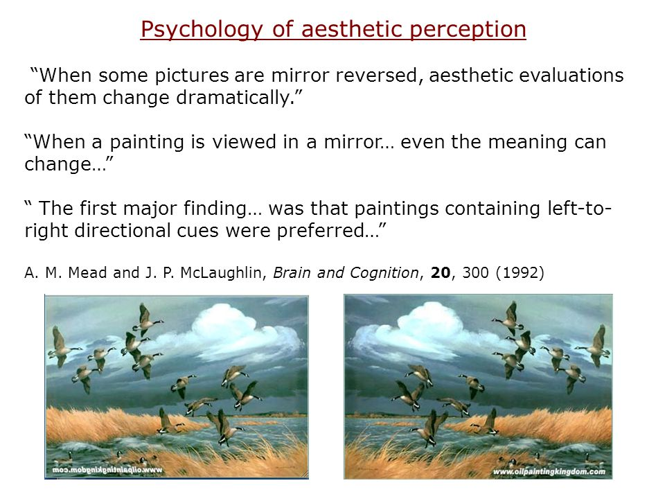 Psychology of aesthetic perception