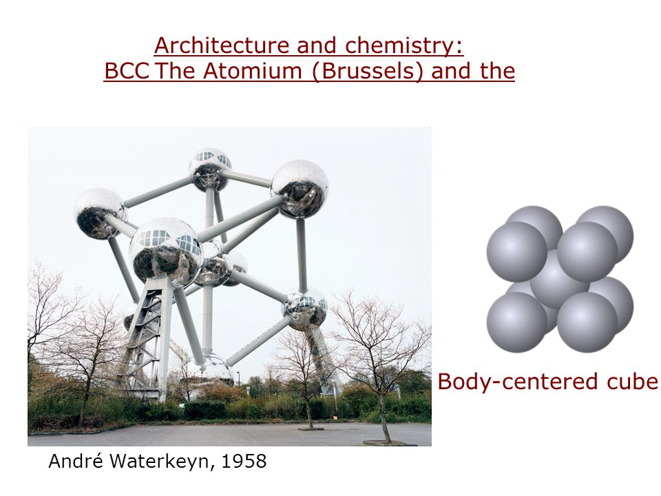 Architecture and chemistry: The Atomium (Brussels) and the BCC