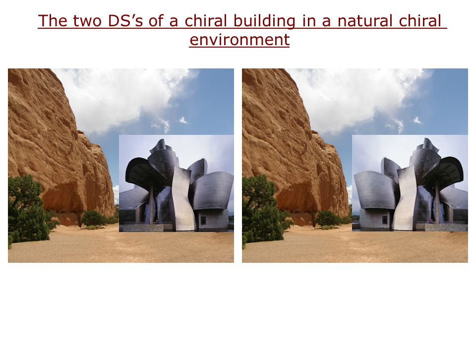 The two DS's of a chiral building in a natural chiral environment