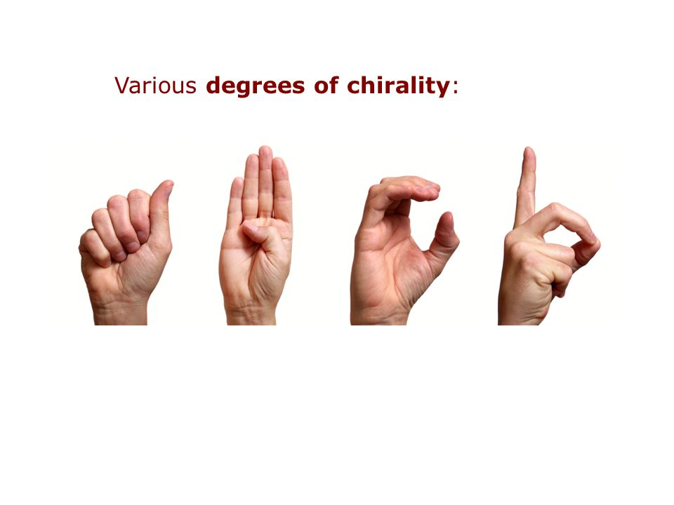 Various degrees of chirality: