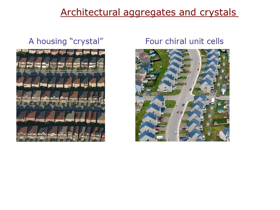 Architectural aggregates and crystals