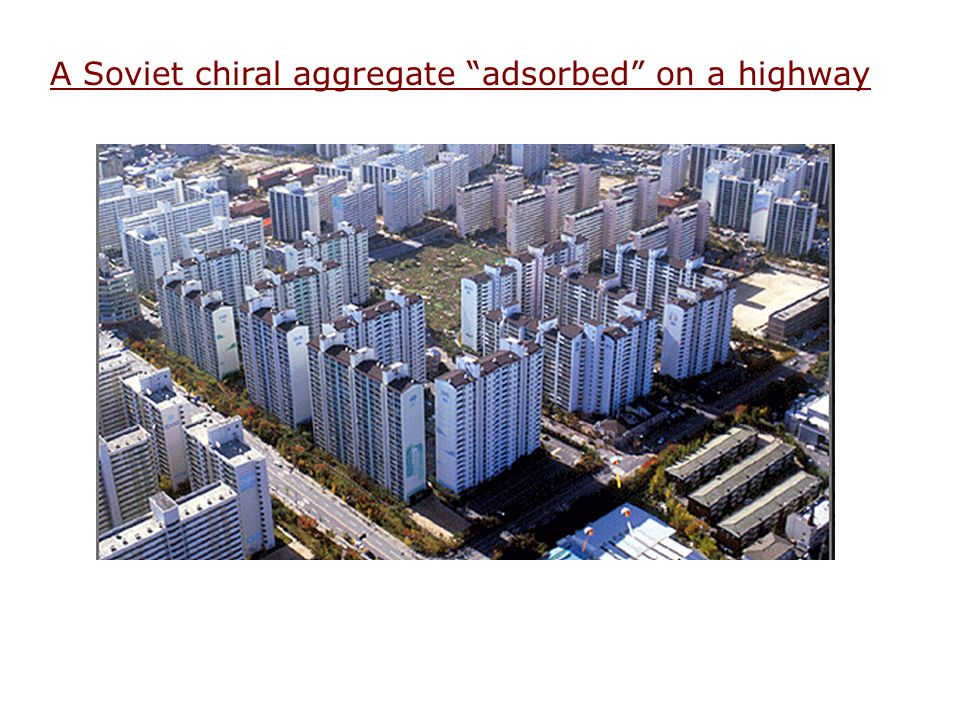 A Soviet chiral aggregate adsorbed on a highway