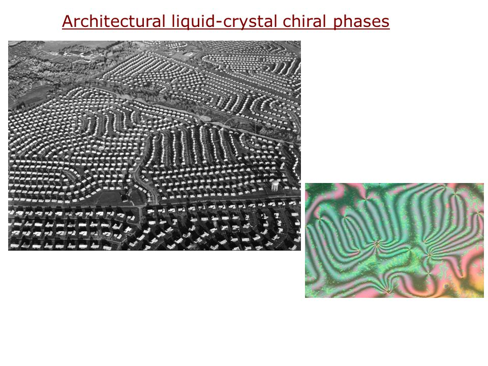 Architectural liquid-crystal chiral phases