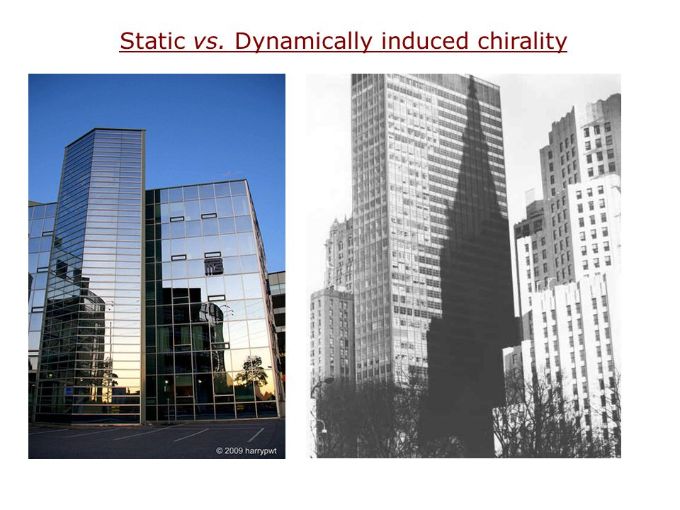 Static vs. Dynamically induced chirality