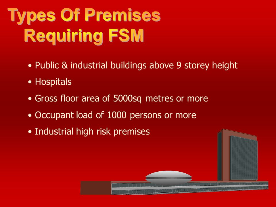 Types Of Premises Requiring FSM