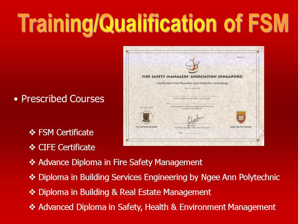 Training/Qualification of FSM