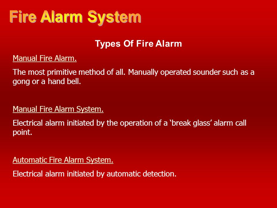 Fire Alarm System Types Of Fire Alarm Manual Fire Alarm.