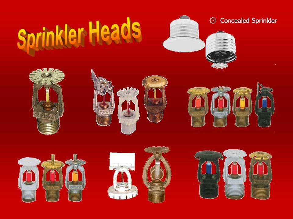 Concealed Sprinkler Sprinkler Heads