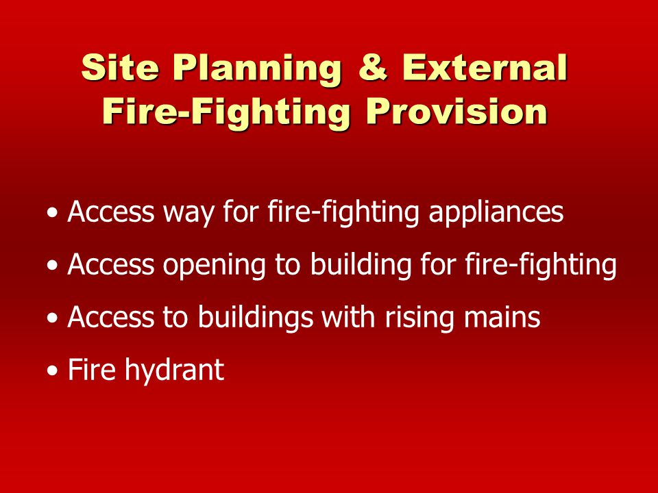 Site Planning & External Fire-Fighting Provision