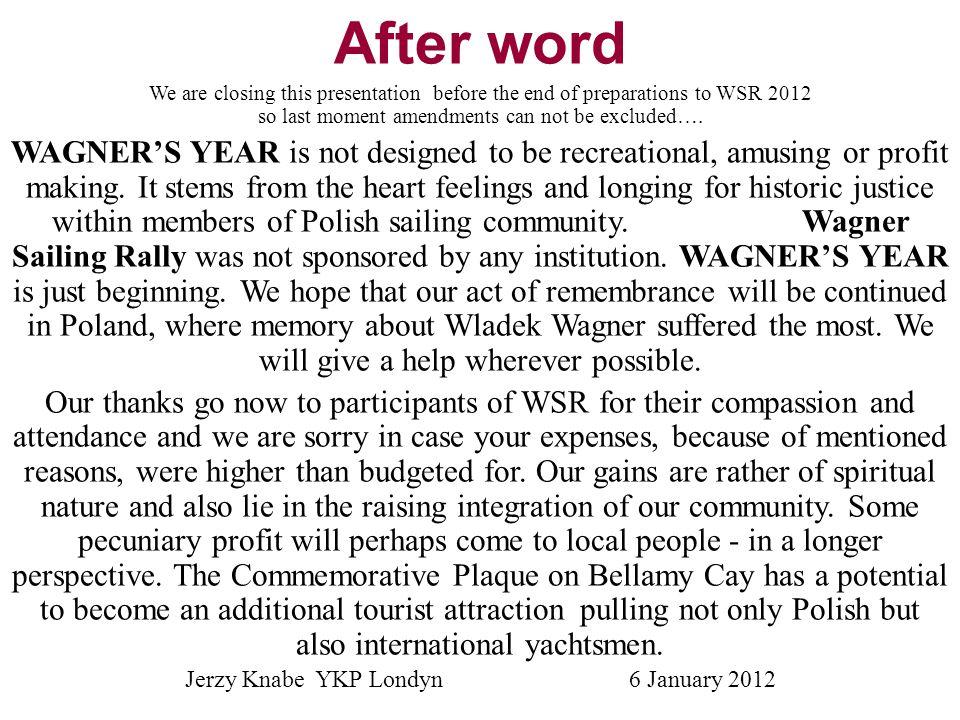 Jerzy Knabe YKP Londyn 6 January 2012