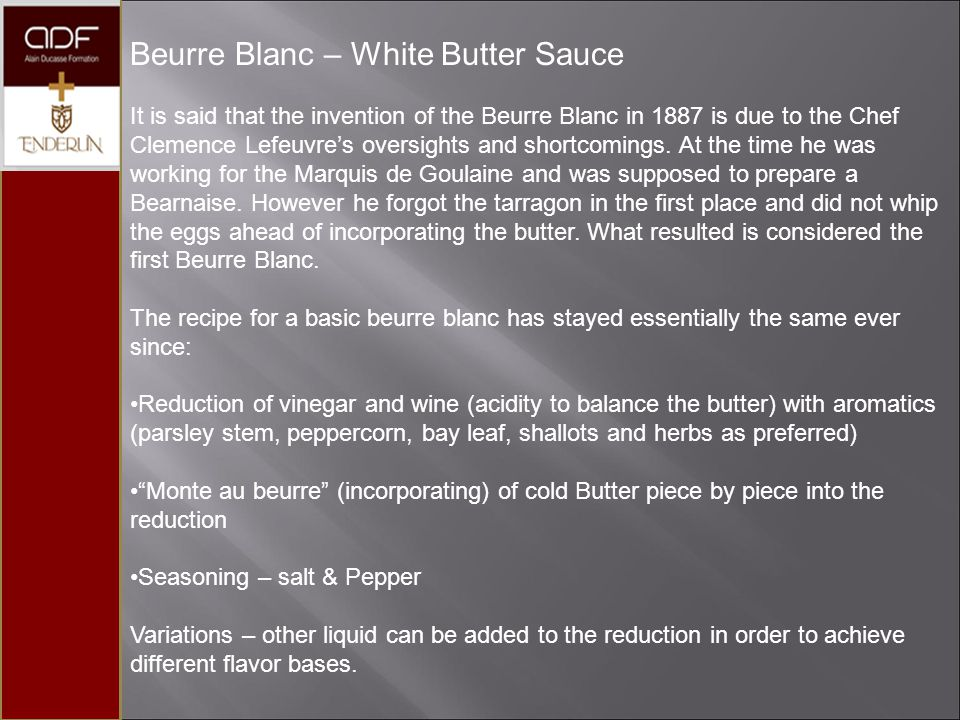 Beurre Blanc – White Butter Sauce