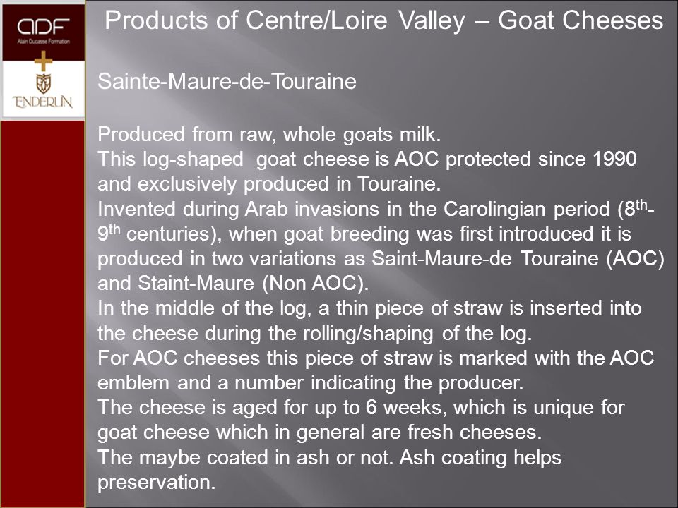 Products of Centre/Loire Valley – Goat Cheeses
