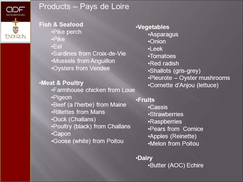 Products – Pays de Loire