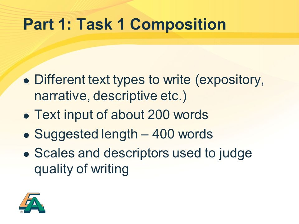 Part 1: Task 1 Composition