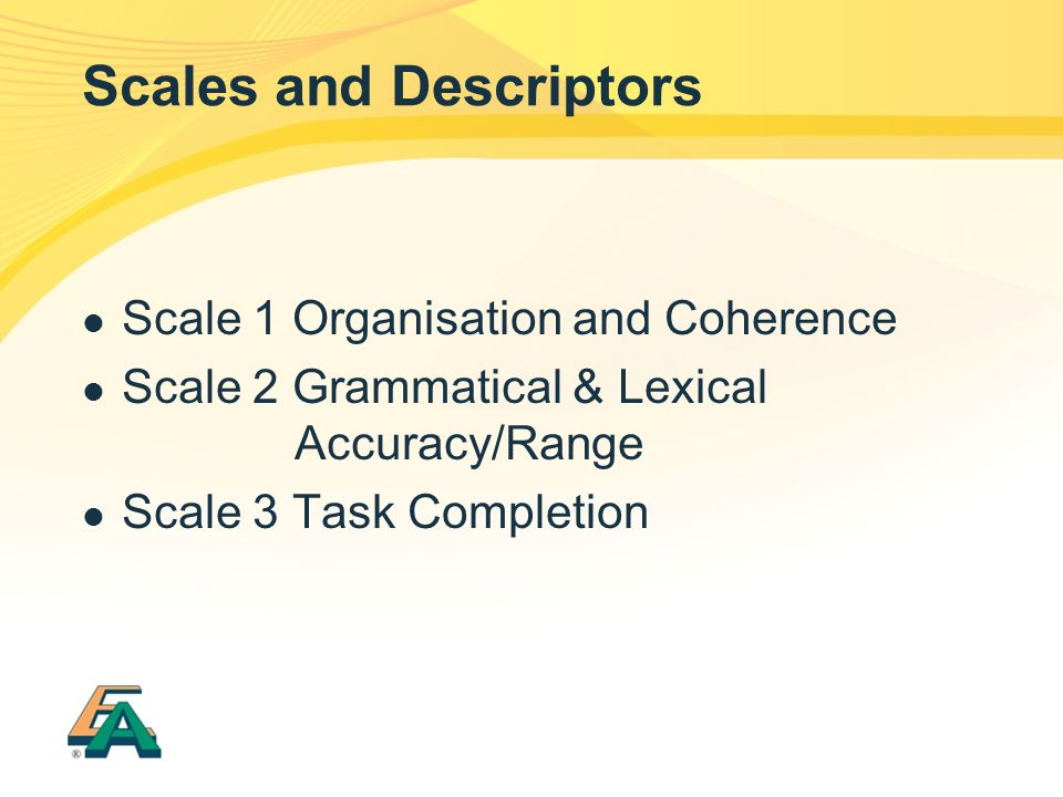 Scales and Descriptors