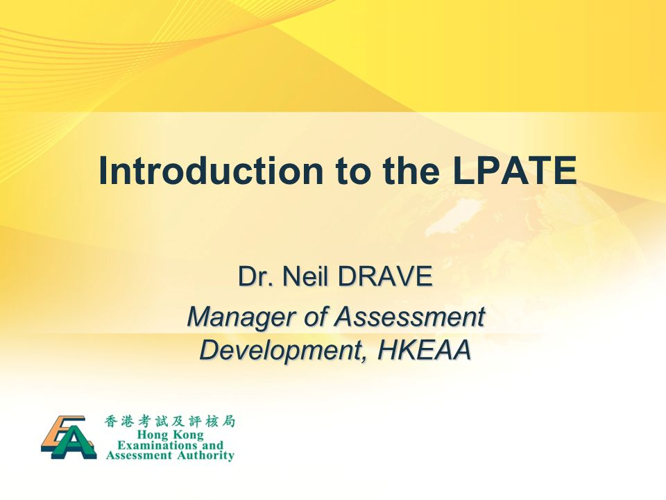 Introduction to the LPATE