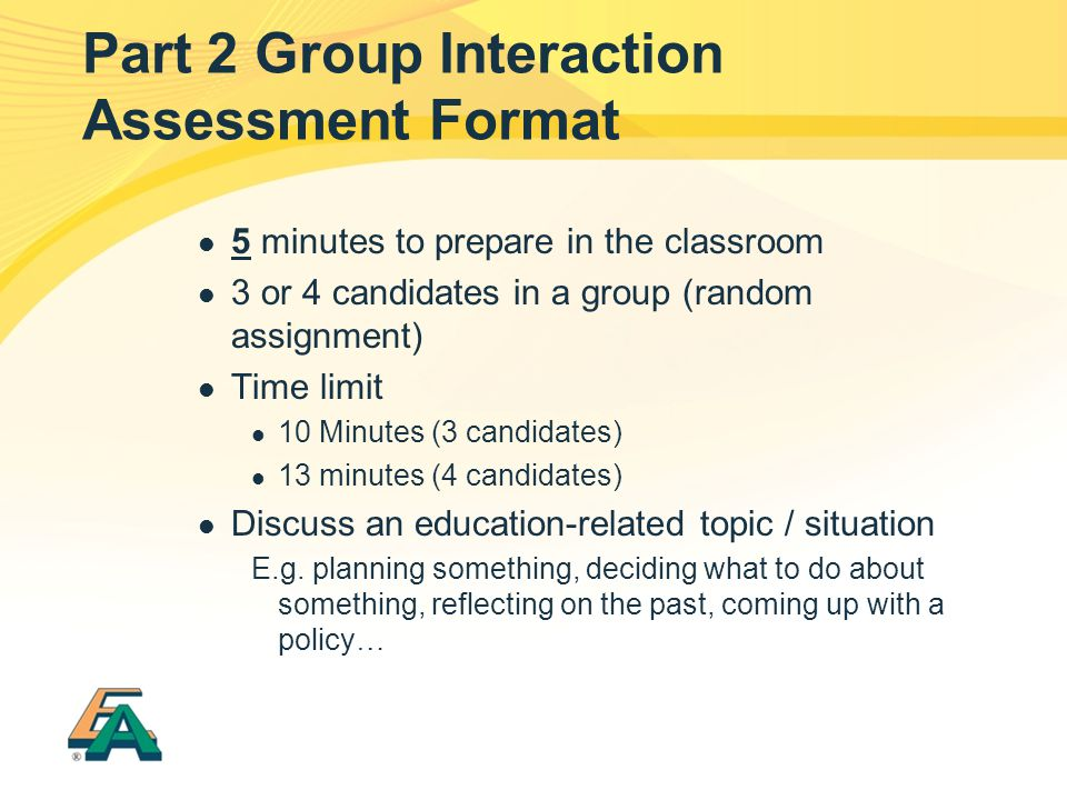 Part 2 Group Interaction Assessment Format