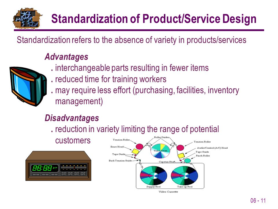 Standardization of Product/Service Design