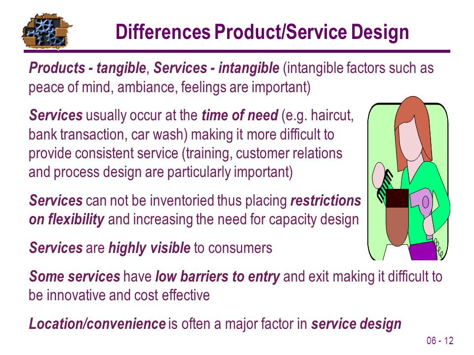 Differences Product/Service Design
