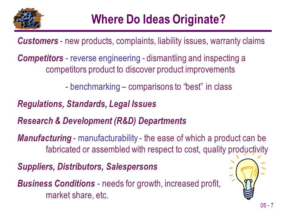 Where Do Ideas Originate
