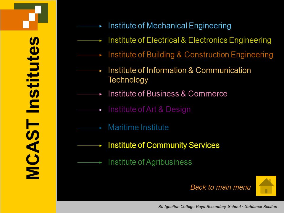MCAST Institutes Institute of Mechanical Engineering