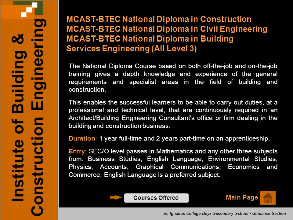 Institute of Building & Construction Engineering