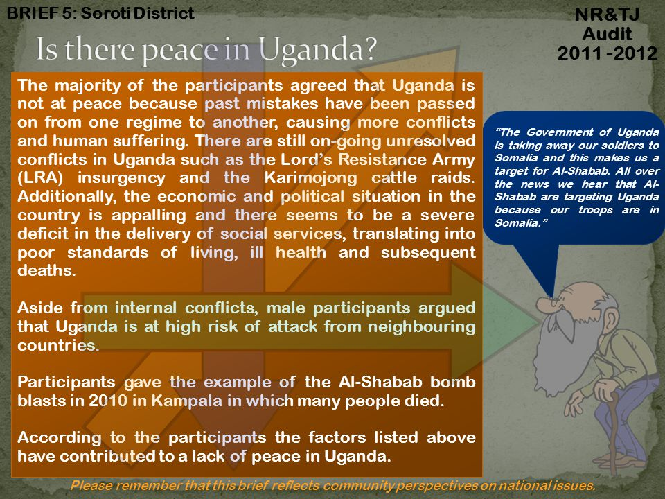 Is there peace in Uganda