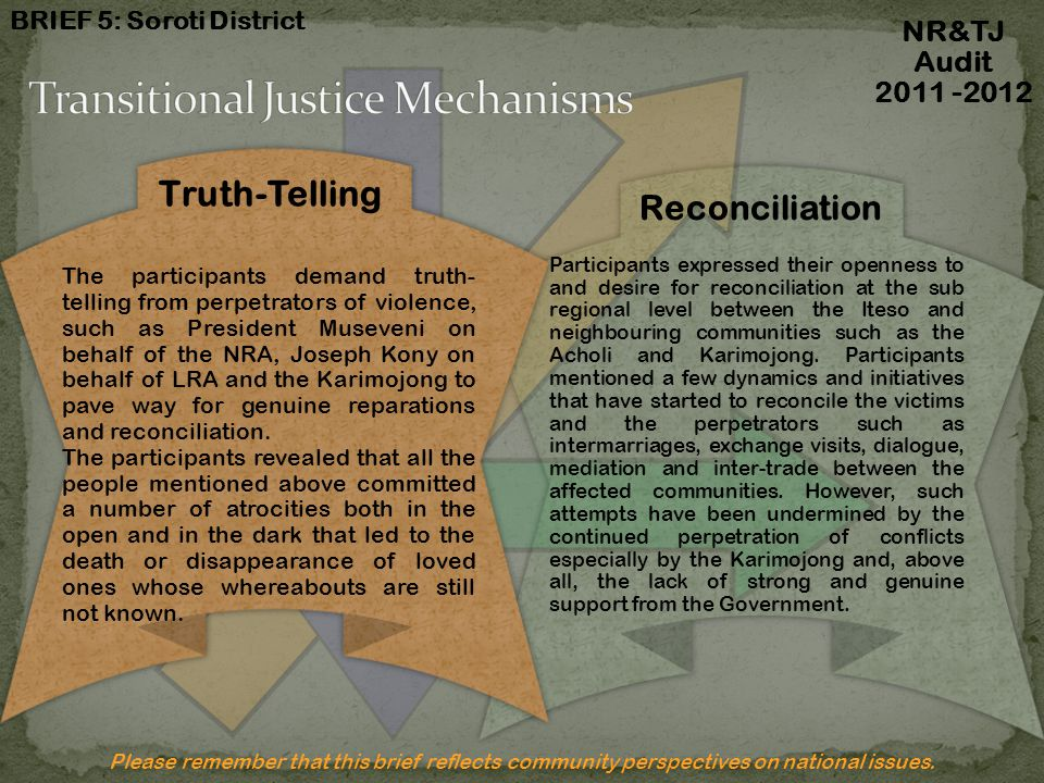 Transitional Justice Mechanisms