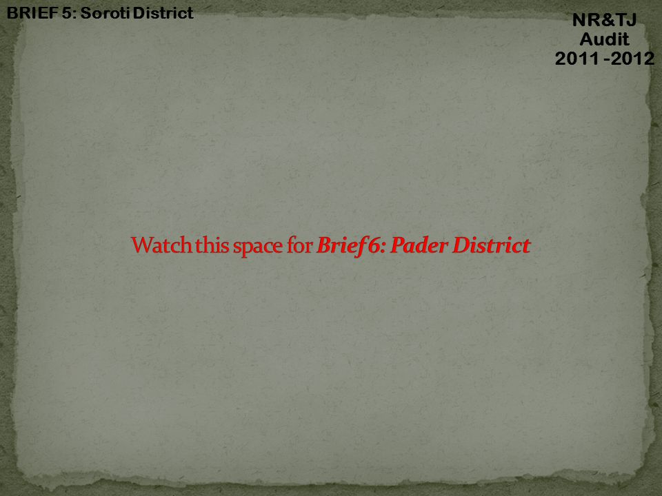 Watch this space for Brief 6: Pader District