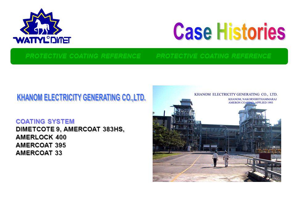 Case Histories KHANOM ELECTRICITY GENERATING CO.,LTD.