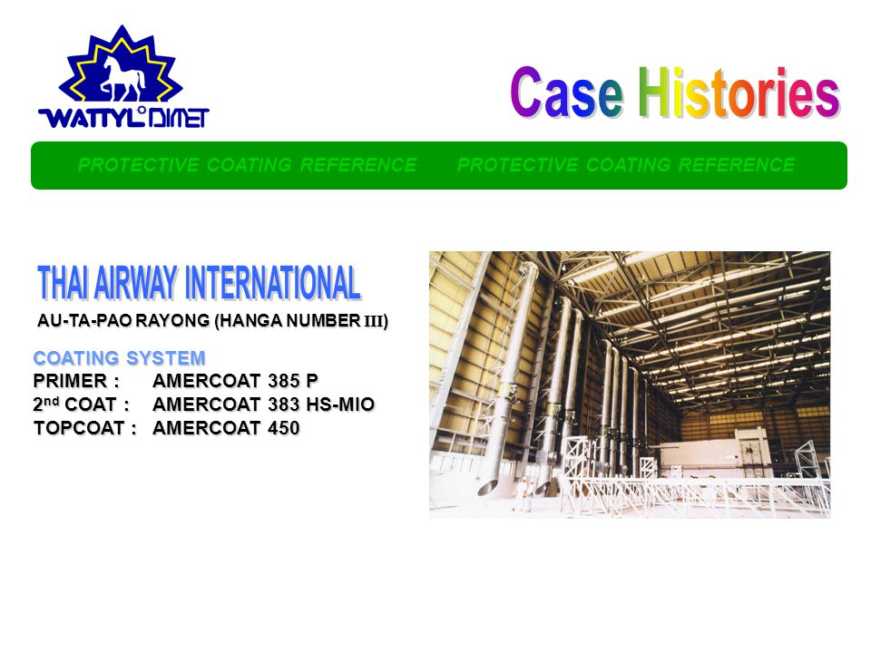 Case Histories THAI AIRWAY INTERNATIONAL
