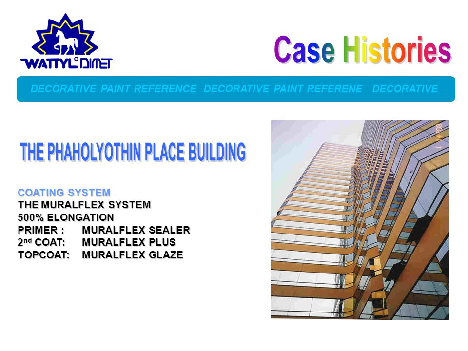 Case Histories THE PHAHOLYOTHIN PLACE BUILDING