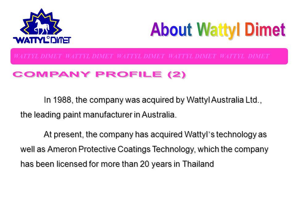 About Wattyl Dimet COMPANY PROFILE (2)